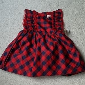 3 for$30. Blue and red plaid dress and bloomers